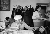Warsaw's kosher kitchen at lunchtime. 1980