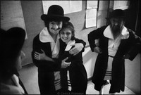 Abraham Kleiman and Etel Szyc backstage at Warsaw Yiddish Theater. 1980