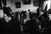 Warsaw's kosher kitchen during Saturday lunch. 1979