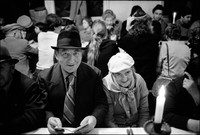 Passover Seder in Warsaw's kosher kitchen. 1979