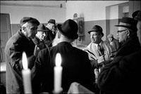After Shabbat service in Warsaw's Beit Midrash. 1980