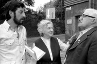 Jozef Herzl, left, with parents in Kazimierz (old Jewish Quarter) on Szeroka Street in Krakow. 1983