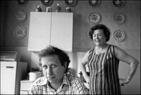 Jerzy Kichler, 36, in his mother's kitchen in Krakow. 1983