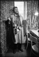 Warsaw Yiddish Theater dressing room. 1980