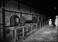 The ovens of Majdanek. It was here that all dead bodies were burned.