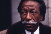 Gordon Parks, American photographer, writer, musician and film maker.