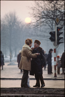 Earnest conversation. Warsaw, Poland 1979