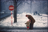 Father and daughter. Krakow, Poland 1979