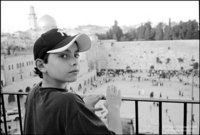 "In Jerusalem, overlooking the ""Wailing"" Wall."